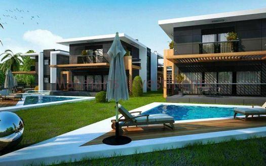 Brand new villa with private swimming pool and garden for sale in Camdibi, Marmaris